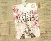 Tags, French Style, I Love Paris, Gift Tags, Shabby Style