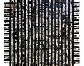 Large Black Paper Weaving- Original Handwoven- Fine Art- Abstract Mixed Media Collage- 23x23- Modern Decor- Wall Weave
