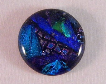 Dichroic Fused Glass Cabochon, Large