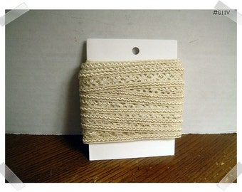Decorative BeigeTrim/ Vintage /6 yards/ Craft Supplies (#011V)*