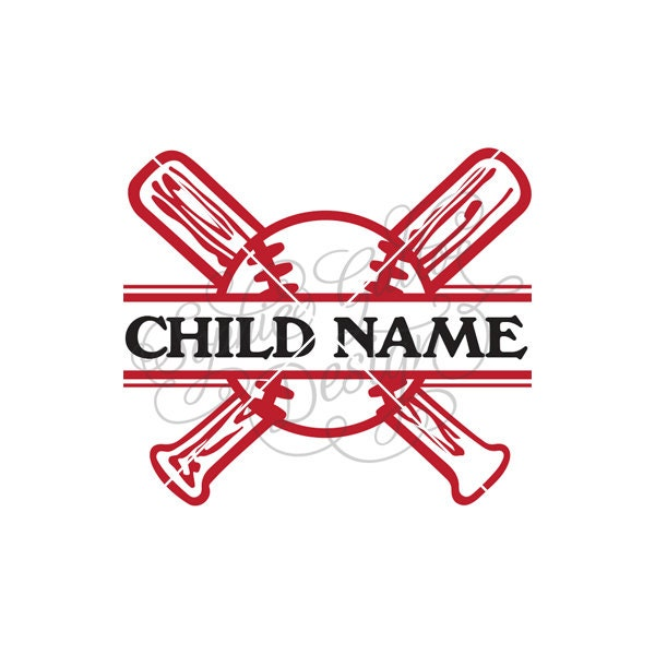Split Baseball Name Plate Svg Dxf Digital Download Files