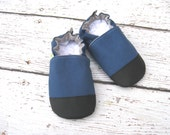 Organic Vegan Heavy Canvas Dusty Blue / non-slip soft sole baby shoes / made to order / babies toddlers preschool