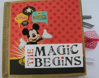 The Magic Begins Disney Paperbag Scrapbook