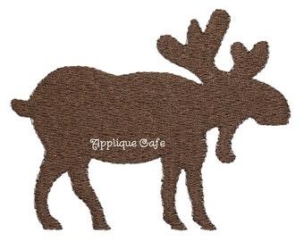 693 Mini Moose Machine Embroidery Design