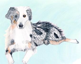 Custom Pet Portrait - Custom Watercolor Dog Portrait - Pet Portrait Gift - Custom Cat Portrait - Dog Lovers - Cat Lovers - Dog Custom Print