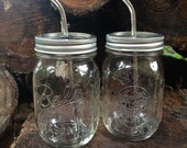 DIY Mason Jar Tumbler Lid w/straw - Set of 5