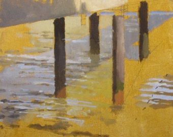 San Francisco Pier - original oil painting (LD 64)