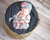 Shell be so Beautiful Baby Beanie and leg warmer photo prop