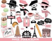 Paris Photo Booth Props - Paris Baby Shower, Chanel Party, Parisian, French, Wedding - INSTANT Download PDF - 40 DIY Printable Props