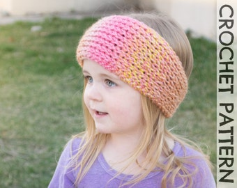 CROCHET PATTERN - Snow Plow Tunisian Headwrap