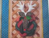 Ruldolf faux taxidermy deer head vintage sewing pattern, 1981 Christmas