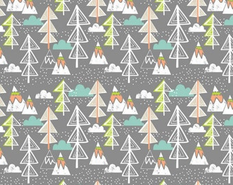 Blend Fabrics - Snow Day Collection - Arctic Tree in Gray