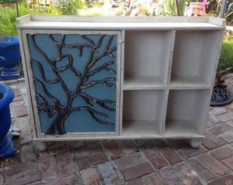 Cubby Storage - Cabinet - Tree - Home Organization - 48 long x 35 tall x 10 deep With a Back Panel as Shown - Ball Feet Option