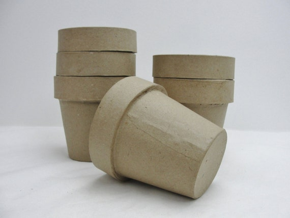 Paper mache flower pot 4 flower pot set of 6 like this item mightylinksfo Image collections