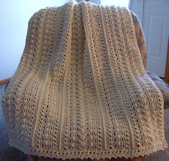 Pattern Only Weekenders Aran Fisherman Crochet afghan blanket INSTANT DO...