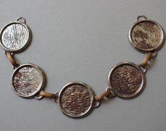 Vintage Steel Bib Necklace Blank 18mm Round