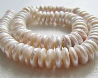 Coin Pearls Freshwater Cultured Coin Pearls Center Drilled 11-12mm 3 inch Strand