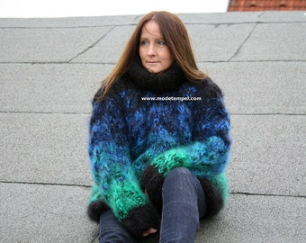 Turtleneck mohair hand knit FOR ORDER ONLY