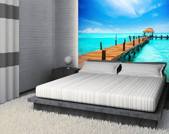 Tropical Sea Paradise Removable and Reusable Wall Mural