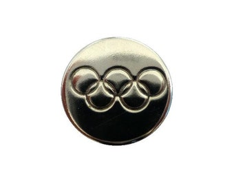 Olympic Games Rings Chrome Button (00668)*Available in Quantity*