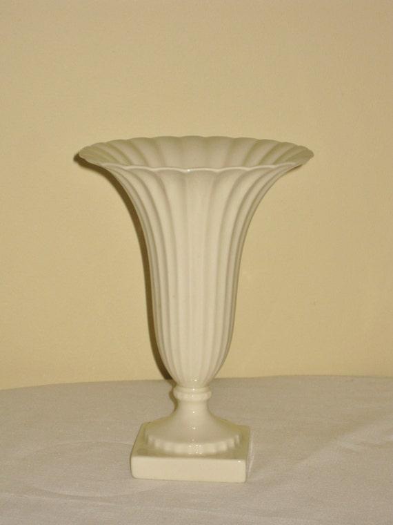 Vintage Fluted Lenox Vase Cream Colored Regal Pattern