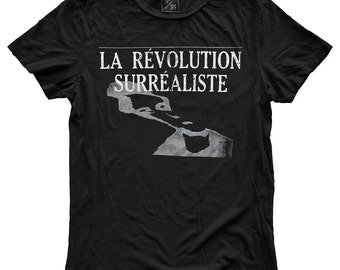 La Revolution Surrealiste, 100 Percent Cotton Vintage Black T-shirt, unisex