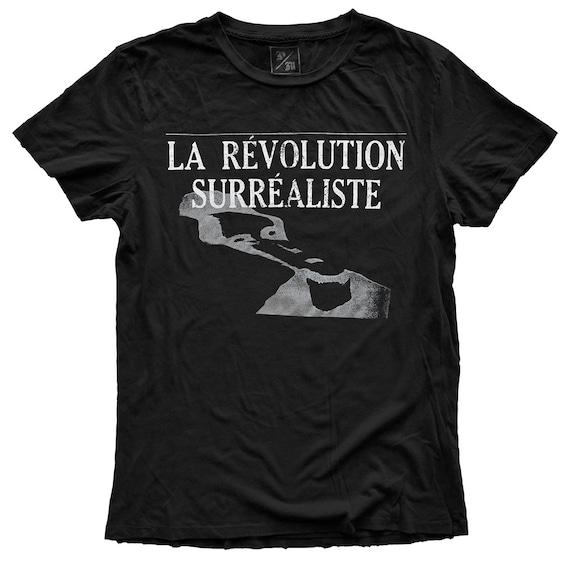 La Revolution Surrealiste, 100 Percent Cotton Vintage Black T-shirt, unisex