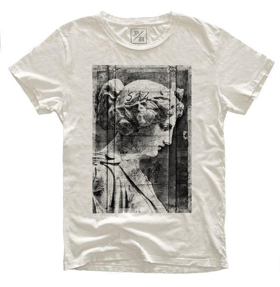 Fade To Grey, 100 Percent Cotton T-shirt, Vintage White, unisex