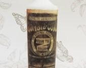 Zombie sepia  victorian candle 19 x 7 cm white