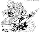 Zombie Hotrod Original Art