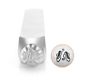 Ballet Slippers Design Stamp 6mm - Handstamping Metal Design Stamp - Low Shipping!