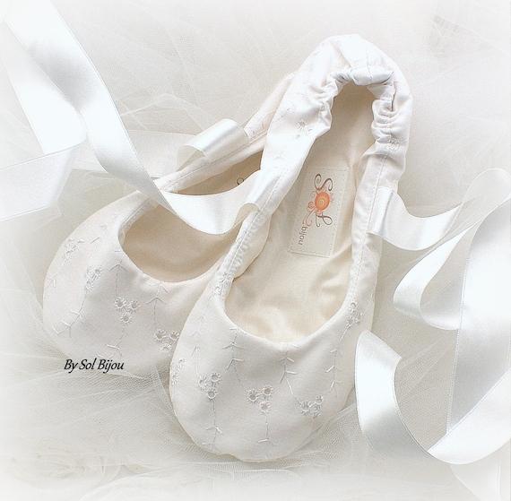 Wedding Flats Ivory Ballet Flats Elegant Wedding Bridal