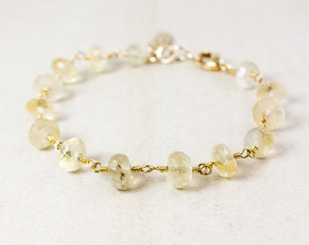 Golden Rutile Quartz Charm Bracelet – Choose Your Charm – Gold Plated
