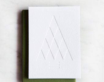 Triangle Tree, Set of 6 letterpress cards