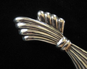 Sterling Silver Bow Style Brooch