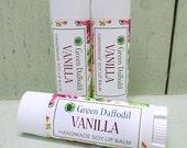 Vanilla Soy Lip Balm Tube- Vegan - Green Daffodil