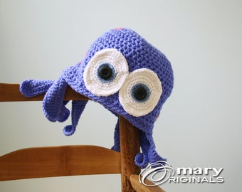 Octopus Hat, Squid Hat, Jellyfish Hat, Crochet Beanie, Funny Hat, Sea Creature, Accessories, Boy's Clothing, Girl's Clothing, Men, Women,