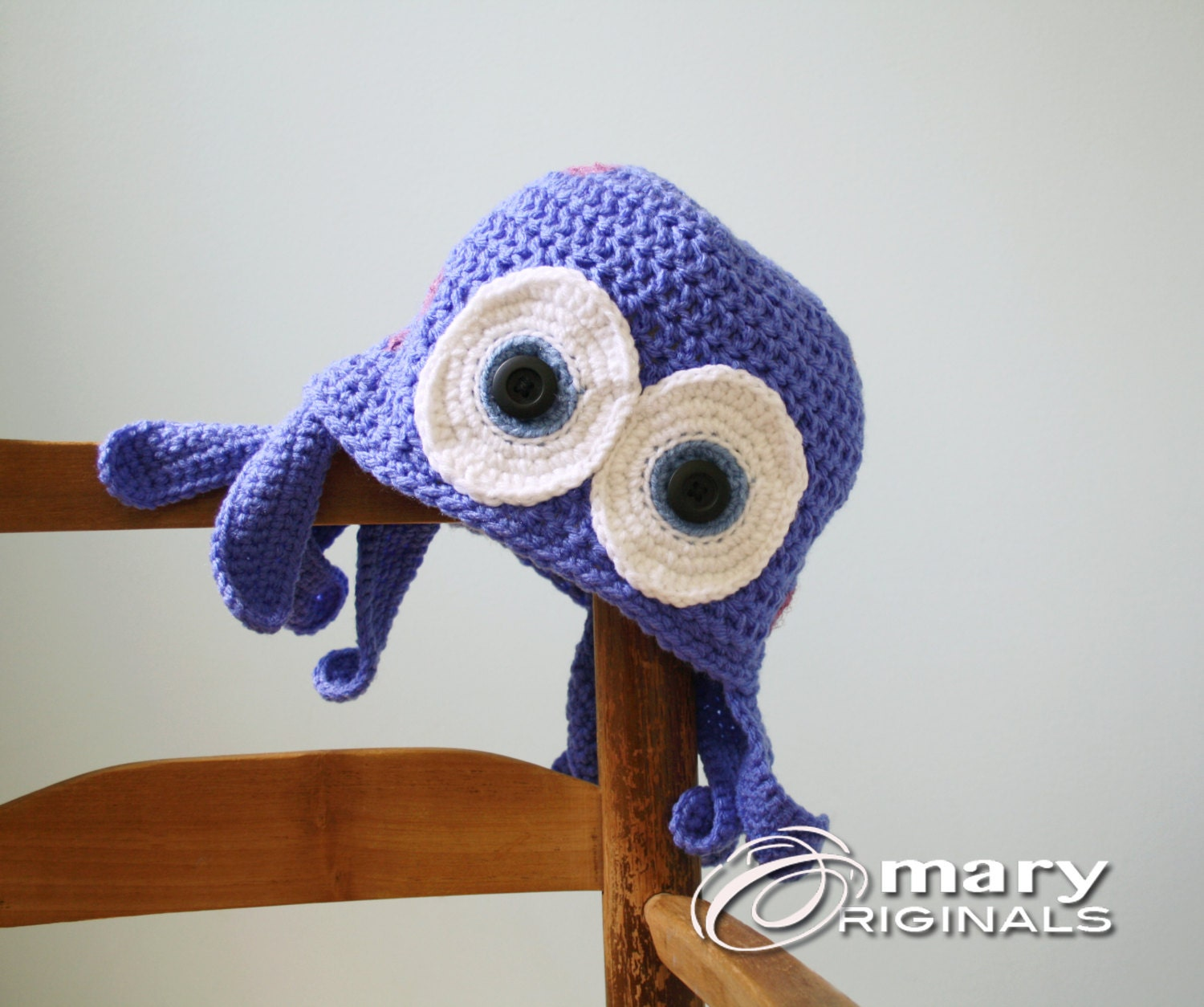 Crochet Octopus Hat : Octopus Hat Squid Hat Jellyfish Hat Crochet by MaryOriginals
