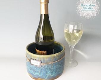 Wine Lover Gift, Wine Chiller For Hostess Gift, Ceramic Wine Chiller