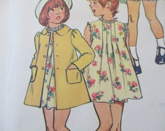 Child's Dress and Coat Pattern, Size 2