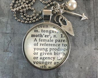 Dictionary Word Necklace - Mother