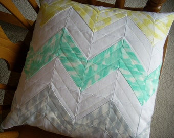 sunshine serenade chevron two sided pillow cover - FREE SHIPPING