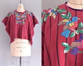 vintage embroidered cape • guatemalan huipil • woven cape • bohemian cape • ethnic wrap