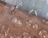 Sea Creatures Assorted Chocolate Candy Mold, Seahorse Chocolate Mold, Shell Plastic Candy Mold, Beach Wedding Candy, Starfish Candy Mold
