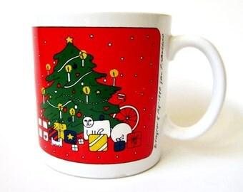 Taylor & Ng 1980 Christmas Mug JOYOUS NOEL
