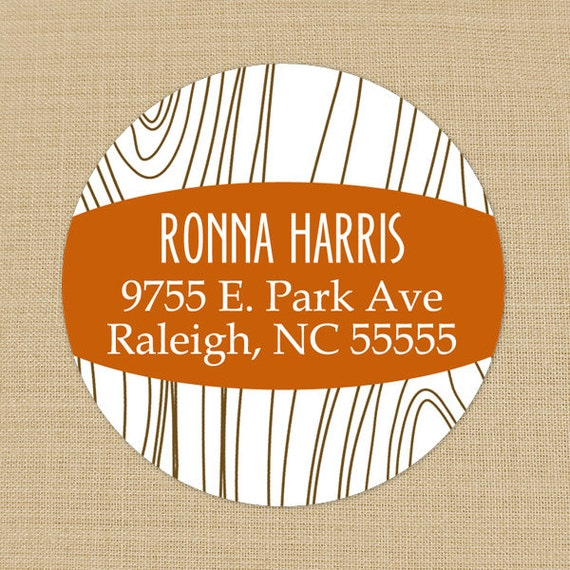 Faux bois wood grain custom address labels or by - Sticker imitation bois ...