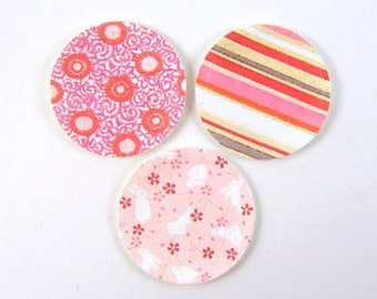 Miniature Plates - Dollhouse Paper Plates in Pink Patterns - 1/12 Scale Dollhouse Miniatures