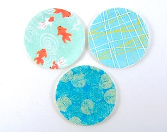 Miniature Plates - Dollhouse Paper Plates in Blue Patterns - 1/12 Scale Dollhouse Miniatures