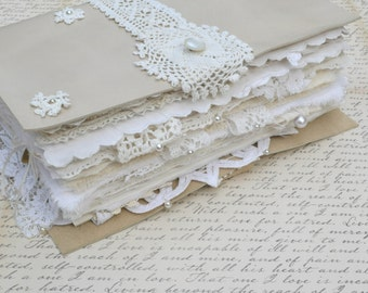 White Leather and Lace Keepsake Book - The Lace One