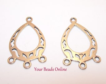 925 Sterling Silver Earring Base 30mm